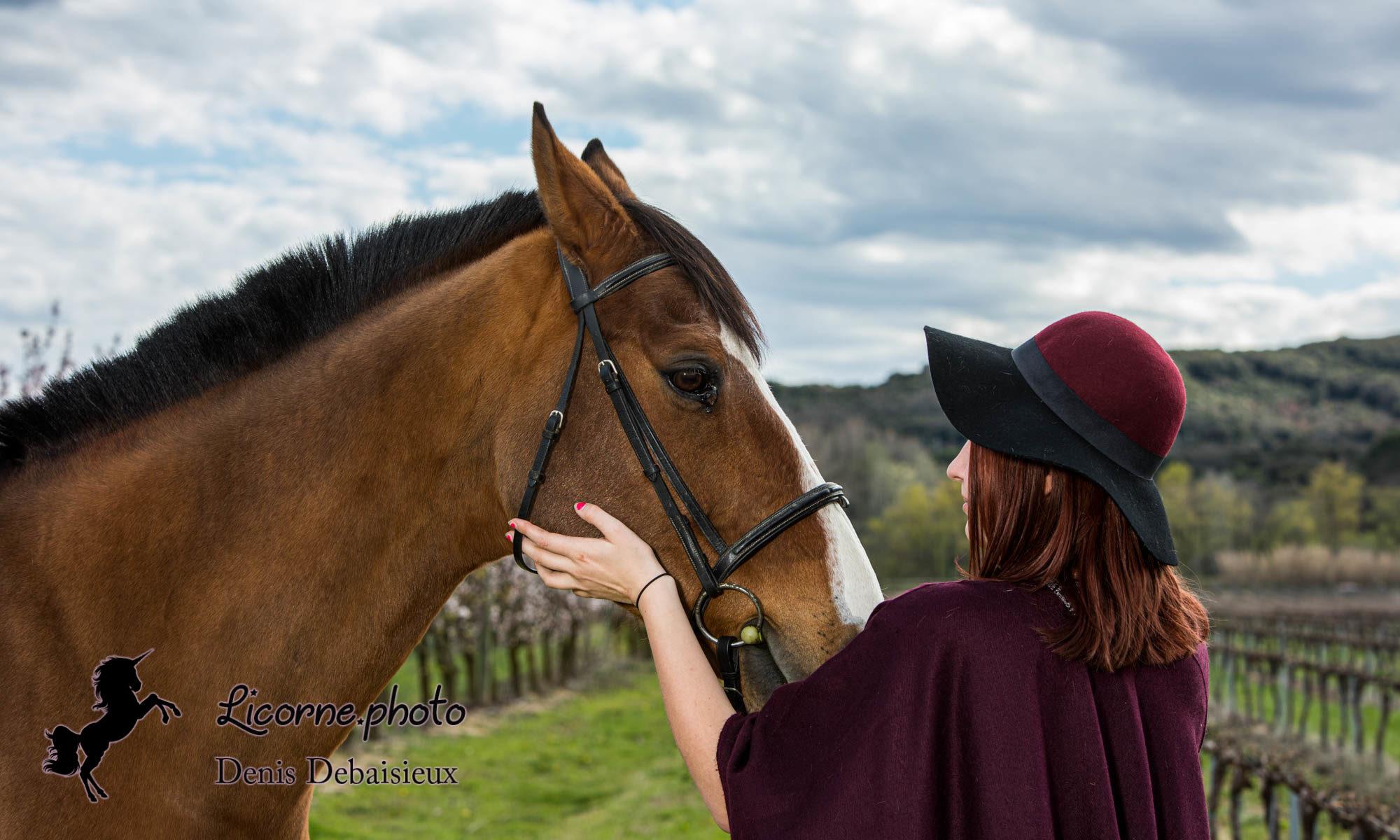 Séance photo cavalière cheval